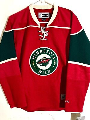 reputable site c0312 748dd REEBOK WOMEN'S PREMIER NHL Jersey Minnesota Wild Team Red sz L