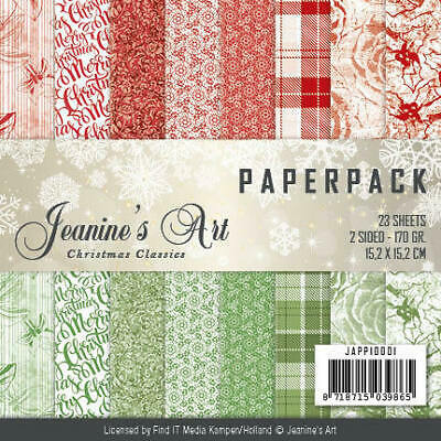 Paperpack - 15,2 x 15,2cm - Jeaninnes Art - Christmas Classics – 170gr -