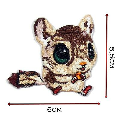 Application badges Iron on patches squirrel animal white 11.1x8.1cm