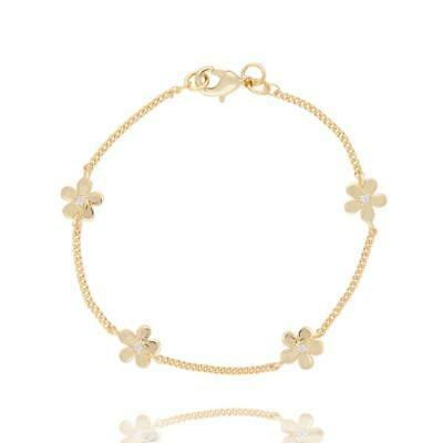 JOMA JEWELLERY - BNWT - Gold Plated over Silver Plate Daisy Chain Bracelet