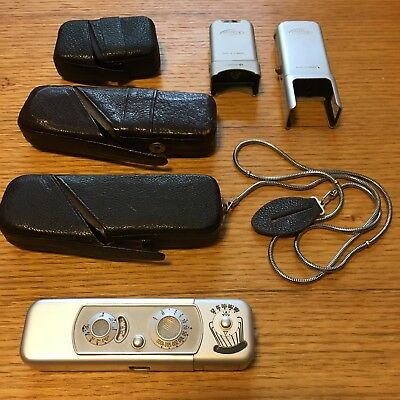 Vintage Minox Spy Miniature Camera Complan 1:3.5 F=15mm w/ Case Chain NR Germany