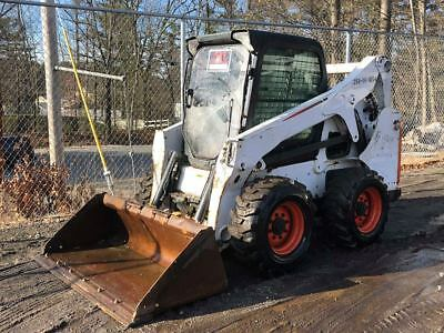 2013 Bobcat S650 Skidsteer Loader HI/FLO Enclosed HEAT and A/C! WORK READY!