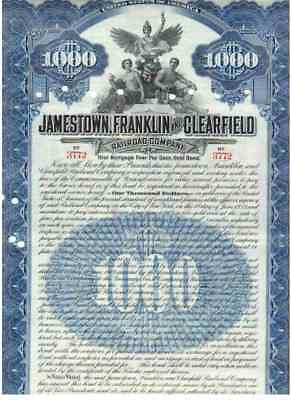 Lot: 3 Jamestown Franklin and Clearfield Railroad Company  1909