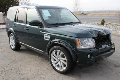 2016 Land Rover LR4 HSE Luxury 2016 Land Rover LR4 HSE Luxury Wrecked Damaged Rebuild Repairable Priced To Sale