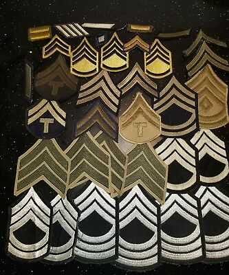 WWII US Army Chevron Armor Division Command Patch Lot