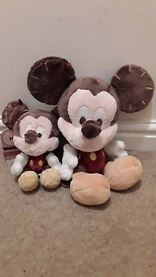 Disney Mickey Mouse Made with Love soft plush Jointed with buttons big and small