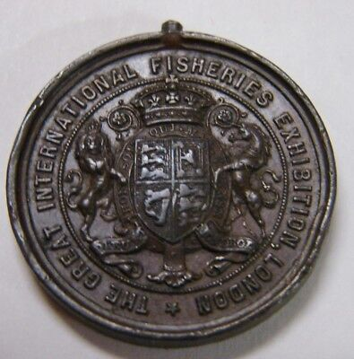 1883 Intl' Fisheries Expo in London - Committee Medal to: T.D. Murray - Cu, 26mm