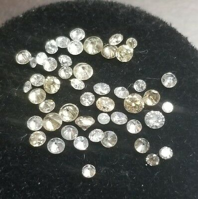 Lot Of 1.33 Ctw Melee White Diamonds From Scrap Nice Lot! {Ml1597}