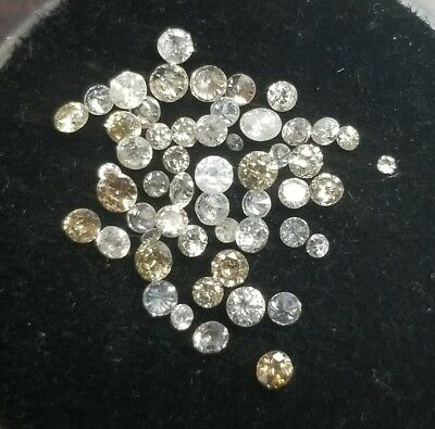 Lot Of 1.29 Ctw Melee White Diamonds From Scrap Nice Lot! {Ml1603}