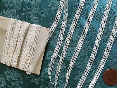 """Thin Tiny French Val Antique trim lace  4 yards +29"""""""