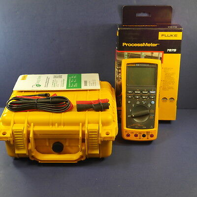 New Fluke 787B Processmeter, Original box, Hard Case, See Details!!  789 787