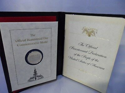 The Official Bicentennial Day Commemorative Medal July 4th 1976 Silver Coin NR!