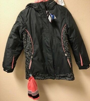 NEW!! Gerry Girls 3-In-1 Black with Pink Lining Jacket Comes with Beanie