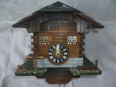 Lovely Chalet Style Cuckoo Clock with Pretty Detail & Swiss Musical Movement