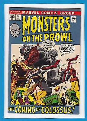 """Monsters On The Prowl #17_June 1972_Vg/f_""""the Coming Of Colossus""""_Bronze Age!"""