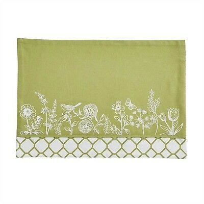Park Designs Abby's Garden Floral Border Reversible Placemats, Set of 4