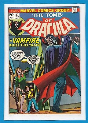 """Tomb Of Dracula #17_February 1974_Very Good+_Blade_""""a Vampire Rides This Train""""!"""