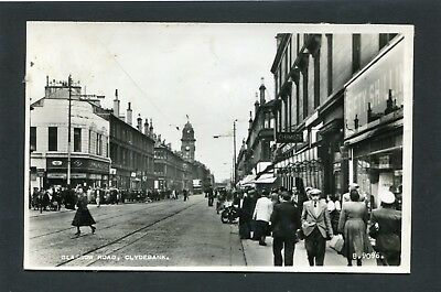 Clydebank - Busy Scene Glasgow Road RP c1950