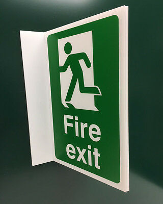 Fire Exit Projecting Sign (man left)
