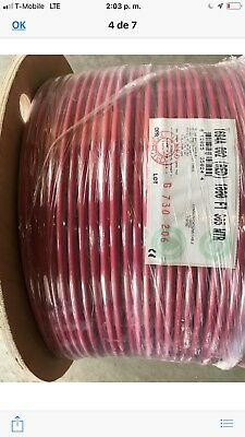1000' - Belden 1694A - RG6 HD-SDI Coax Cable  red