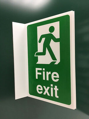 Fire Exit Projecting Sign (man right)