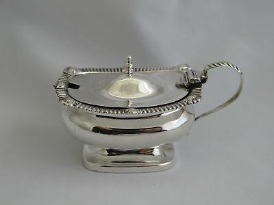 Antique English Sterling Mustard Pot with Liner