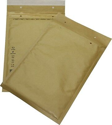 100 Pieces Padded Mailing Envelopes Size 6 F Brown 240x350 Envelopes DIN A4+