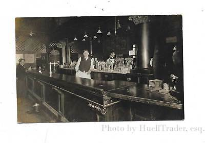 Antique RPPC, Old Saloon Photo w/Election Posters, Howell Michigan, c1910
