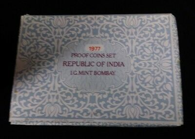 1977 India Proof Set 10 Coin Set Original Box