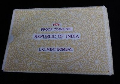 1976 India Proof Set 10 Coin Set Original Box