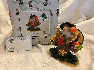 "Charming Tails ""THERE'S A FEAST OF FUN HEADING YOUR WAY"" DEAN GRIFF NIB"