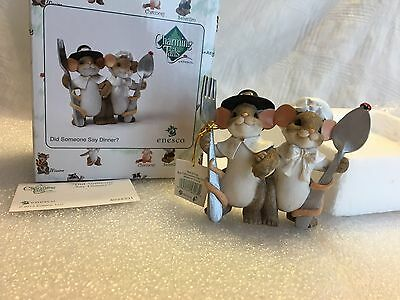 "Charming Tails ""Did Someone Say Dinner"" DEAN GRIFF NIB Thanksgiving"