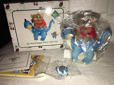 "Charming Tails ""MY WORLD BEGAN WHEN I MET YOU "" DEAN GRIFF NIB WITH MINI"