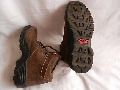 Boots Small Ladies Child Leather Trecking Walking Hiking Gr8 Cond Size Eu35