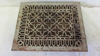 Antique Tuttle Bailey 1875 Floor 12 x 15 Cast Iron Hot Air Register Heat Grate
