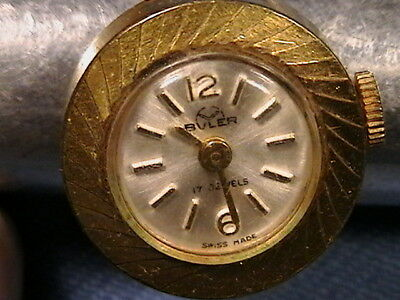Vintage Buler 17 Jewel Finger Ring Watch Swiss Made Hand Wind Up