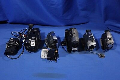 LOT of Assorted Compact Video Camcorders #L3579BP