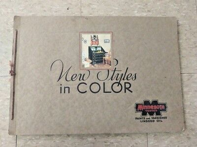 1920s Minneapolis Linseed Oil Paint Company Salesman Sample Catalog New Styles