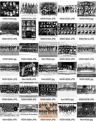 Lot Of 122-4X6 Montreal Canadiens Team Photos....all Different!