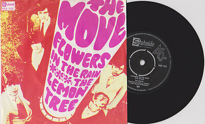 """7"""" MOVE Flowers In The Rain / The Lemon Tree DUTCH HOLLAND 1967 PSYCH  PS"""
