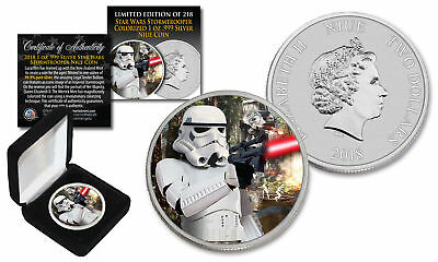 2018 NZM Niue 1 oz Pure Silver BU Star Wars STORMTROOPER Coin with ENDOR BATTLE