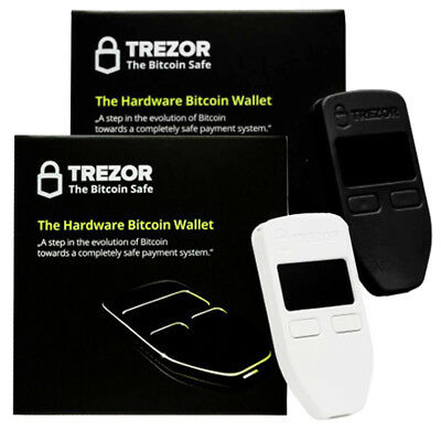 Black & White Combo Trezor wallet vault safe for currency Bitcoin Litecoin LTC