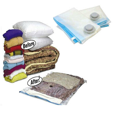 Vacuum Storage Bags - Space Saving Seal Clothes & Bedding 55x85 100x70 - 10 Pack