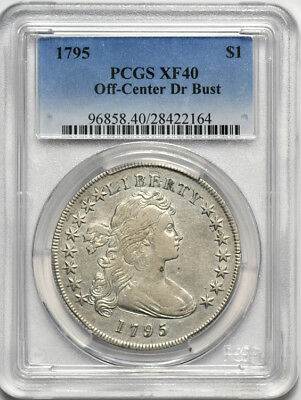 1795 Off Center Draped Bust Silver Dollar PCGS XF 40 XF40