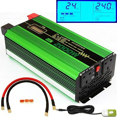 2000W/4000W(Peak) DC24V PURE SINE WAVE POWER INVERTER LCD DISPLAY +REMOTE SWITCH