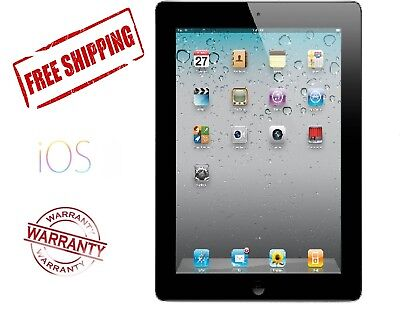 Apple iPad 2 16GB, Wi-Fi, 9.7in - Black Tablet Good Condition Free Shipping