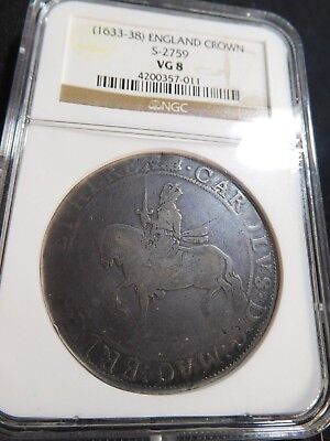 M78 Great Britain England (1633-1638) Crown S-2759 NGC VG-8