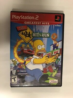 Simpsons Hit & Run Sony Playstation 2(Game+Original Case With Artwork,No Manual)