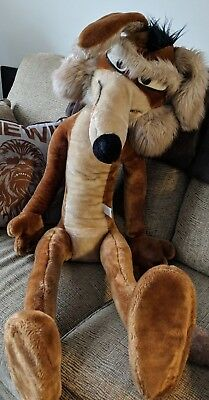 """Wile E Coyote Warner Brothers 1970s Vintage42"""" Large Plush Stuffed Animal"""