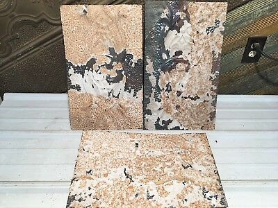 """3pc Lot of 19"""" by 11.5"""" Antique Ceiling Tin Vintage Reclaimed Salvage Art Craft"""